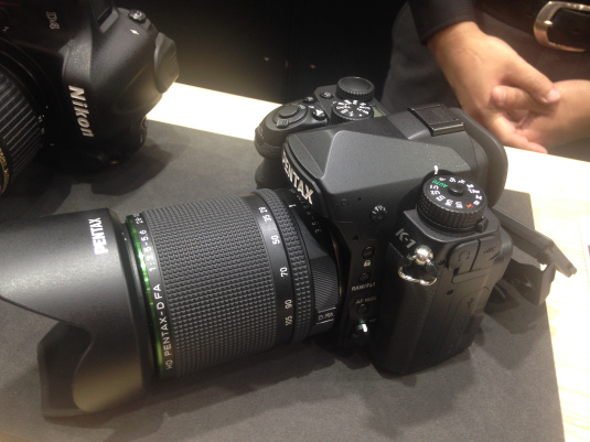 Pentax K-1 at CP+ show