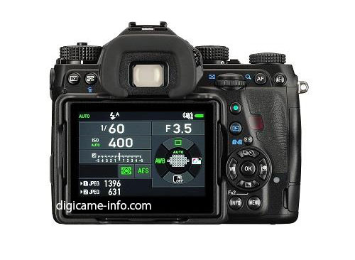Pentax K-1 full frame DSLR camera LCD screen