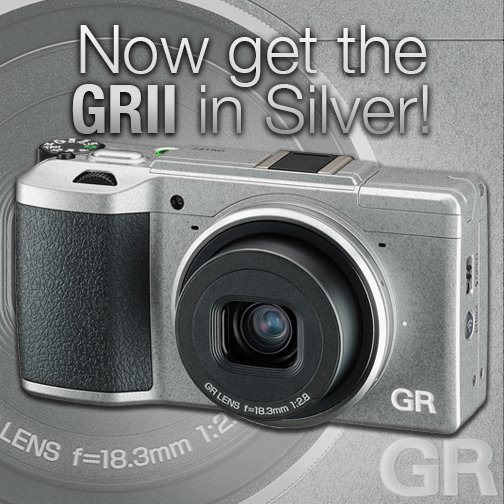 Ricoh GR II Silver Edition camera