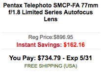 Pentax-SMCP-FA-77mm-f_1.8-lens-sale