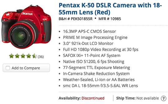 Pentax-K-50-DSLR-camera-discontinued