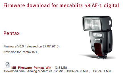 Metz-Mecablitz-flash-firmware-update-Pentax-K-1-camera