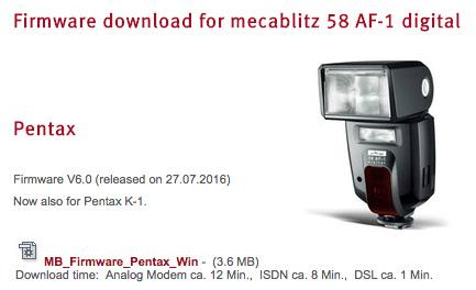 Metz-Mecablitz-flash-firmware-update-Pentax-K-1-camera