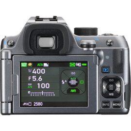 Pentax K-70 DSLR camera silver