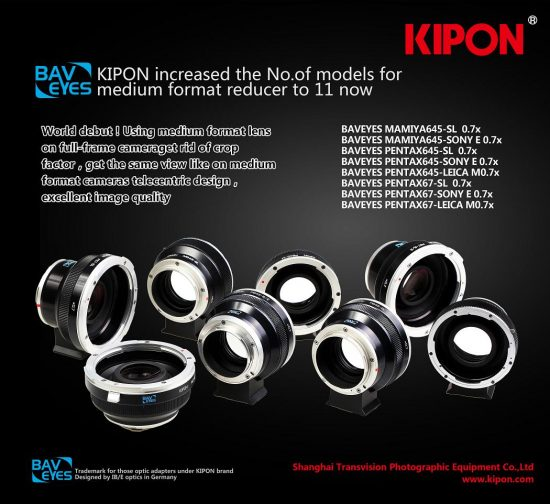 Kipon Baveyes adapters for Pentax medium format lenses 2