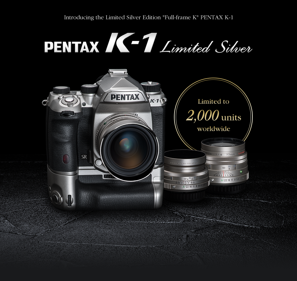 Pentax K-1 silver limited edition DSLR camera officially announced ...