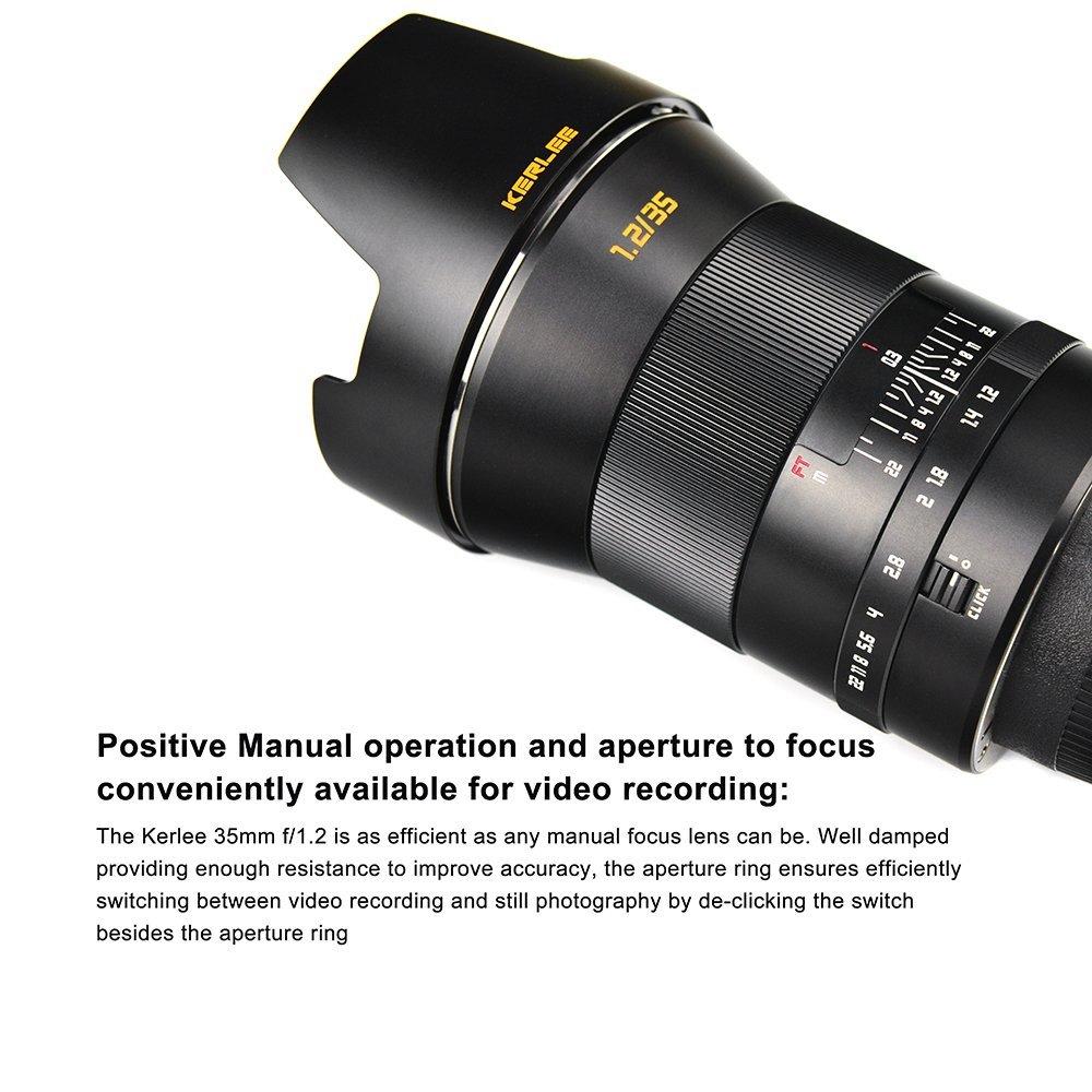 The Kerlee 35mm f/1.2 full frame DSLR lens is available also for ...