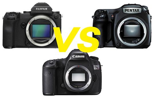 Battle of the 50s: Fuji GFX vs  Canon 5DSR vs  Pentax 645z