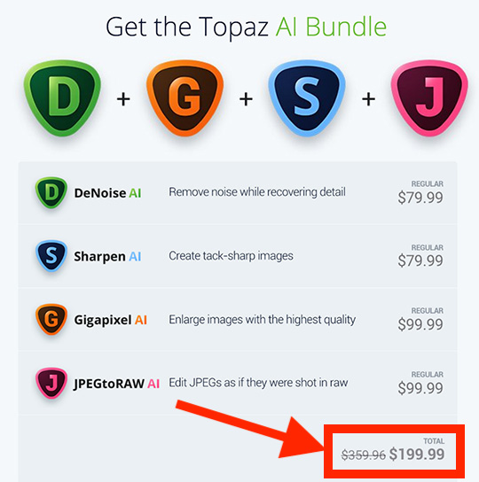 One day left: the Topaz Labs AI bundle is $150 off - Pentax