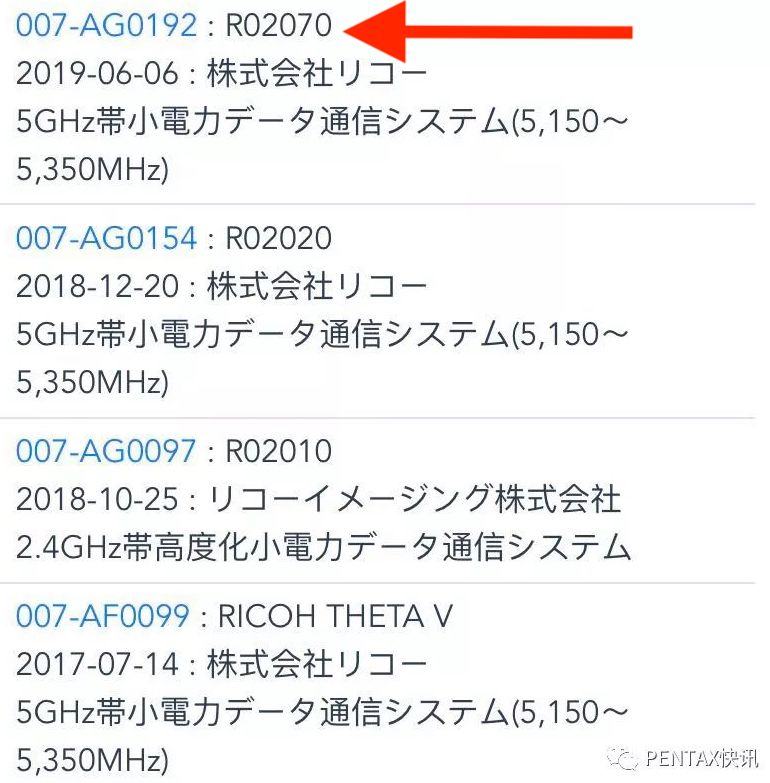 Ricoh registered new camera under the code name R02070 - Pentax Rumors